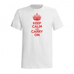 KEEP CALM AND CARRY ON TEE - Tričko