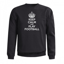 KEEP CALM AND PLAY FOOTBALL SWEAT - Mikina, černá