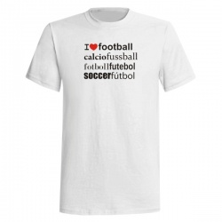 I LOVE FOOTBALL TEE - Tričko